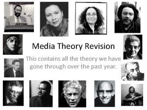 Media Theory Revision This contains all theory we