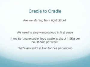 Cradle to Cradle Are we starting from right