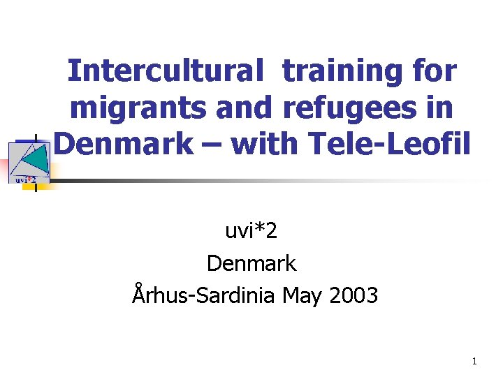 Intercultural training for migrants and refugees in Denmark