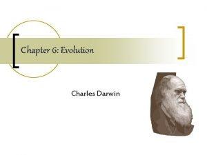 Chapter 6 Evolution Charles Darwin Georgia Performance Standards