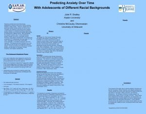 Predicting Anxiety Over Time With Adolescents of Different