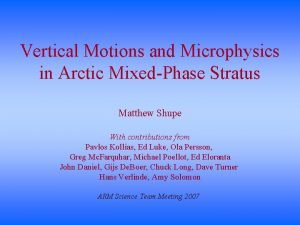Vertical Motions and Microphysics in Arctic MixedPhase Stratus