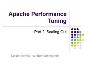 Apache Performance Tuning Part 2 Scaling Out Sander