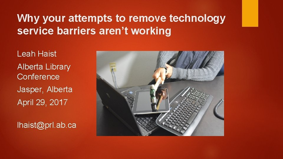 Why your attempts to remove technology service barriers