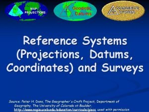 Reference Systems Projections Datums Coordinates and Surveys Source