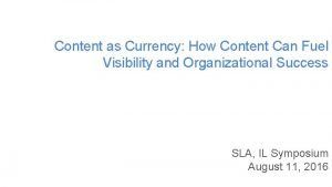Content as Currency How Content Can Fuel Visibility