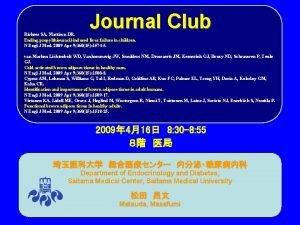 Journal Club Rivkees SA Mattison DR Ending propylthiouracilinduced