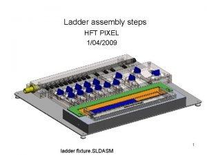 Ladder assembly steps HFT PIXEL 1042009 1 ladder