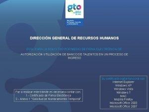 DIRECCIN GENERAL DE RECURSOS HUMANOS GUA PARA LA
