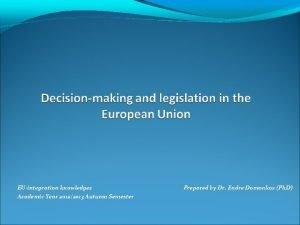 EUintegration knowledges Academic Year 20122013 Autumn Semester Prepared