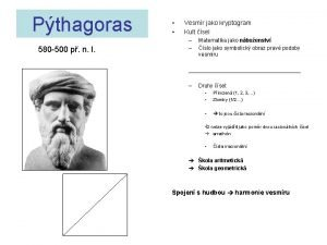 Pthagoras 580 500 p n l Vesmr jako