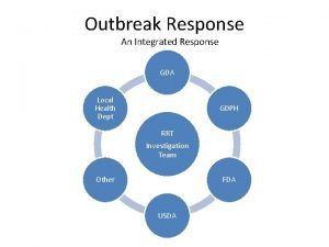 Outbreak Response An Integrated Response GDA Local Health