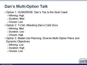 Dans MultiOption Talk Option 1 HUMIDRIDE Dans Trip