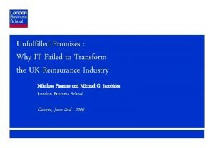 Unfulfilled Promises Why IT Failed to Transform the