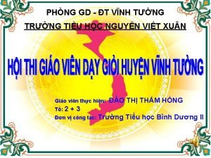 PHNG GD T VNH TNG TRNG TIU HC