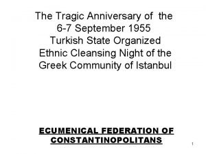The Tragic Anniversary of the 6 7 September