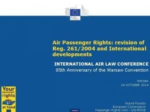 Air Passenger Rights revision of Reg 2612004 and