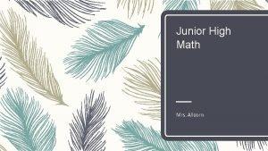 Junior High Math Mrs Allcorn Facts About Math