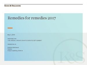 Remedies for remedies 2017 May 3 2018 PREPARED