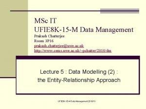 MSc IT UFIE 8 K15 M Data Management