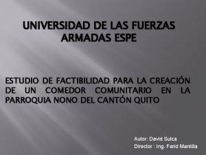 UNIVERSIDAD DE LAS FUERZAS ARMADAS ESPE ESTUDIO DE