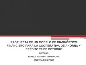 GJGJJMMM PROPUESTA DE UN MODELO DE DIAGNSTICO FINANCIERO
