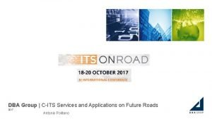 DBA Group CITS Services and Applications on Future