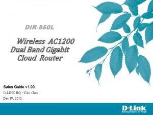DIR850 L Wireless AC 1200 Dual Band Gigabit