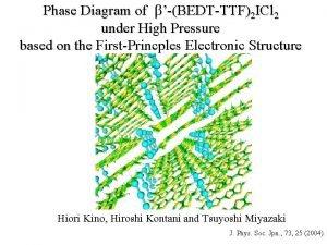 Phase Diagram of bBEDTTTF2 ICl 2 under High