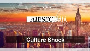 Culture Shock Objetives What is a cultural shock
