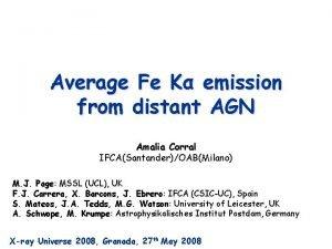 Average Fe K emission from distant AGN Amalia