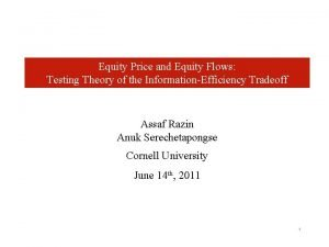 Equity Price and Equity Flows Testing Theory of