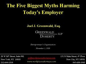 The Five Biggest Myths Harming Todays Employer Joel