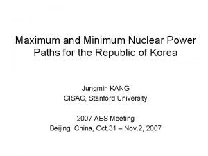 Maximum and Minimum Nuclear Power Paths for the