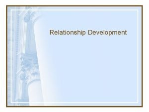 Relationship Development Coming Together Stage Maintenance Stage Coming