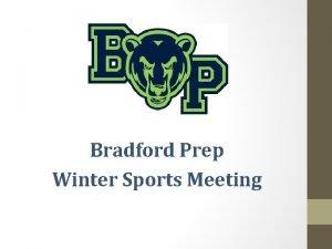 Bradford Prep Winter Sports Meeting The Bradford Sports