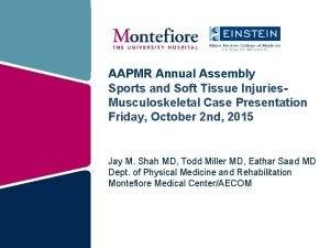 AAPMR Annual Assembly Sports and Soft Tissue Injuries