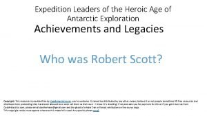 Expedition Leaders of the Heroic Age of Antarctic