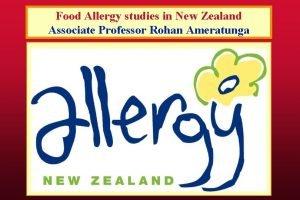 Food Allergy studies in New Zealand Associate Professor
