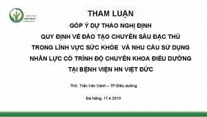 THAM LUN GP D THO NGH NH QUY