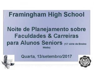 Framingham High School Noite de Planejamento sobre Faculdades