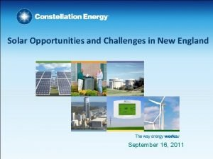 Solar Opportunities and Challenges in New England September
