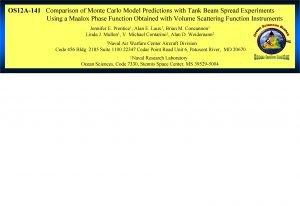 OS 12 A141 Comparison of Monte Carlo Model