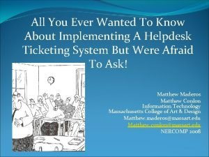 All You Ever Wanted To Know About Implementing