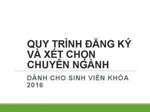 QUY TRNH NG K V XT CHN CHUYN