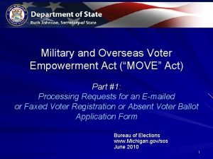 Military and Overseas Voter Empowerment Act MOVE Act
