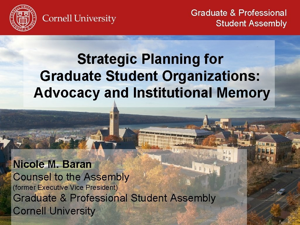 Graduate Professional Student Assembly Strategic Planning for Graduate