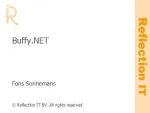 Fons Sonnemans Reflection IT BV All rights reserved