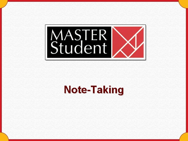 NoteTaking The NoteTaking Process Flows Review Observe Notes