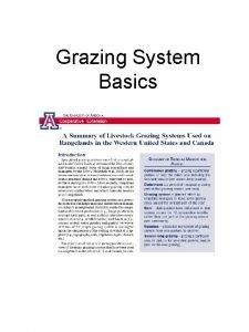 Grazing System Basics Continuous SeasonLong Ranch Headquarters Map